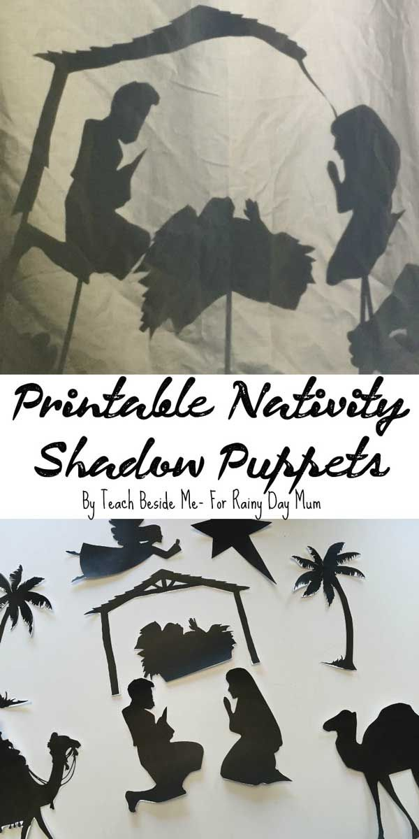 Create your own Nativity Shadow Puppets with this step by step guide with printable and instructions so that your children can retell The Christmas Story.