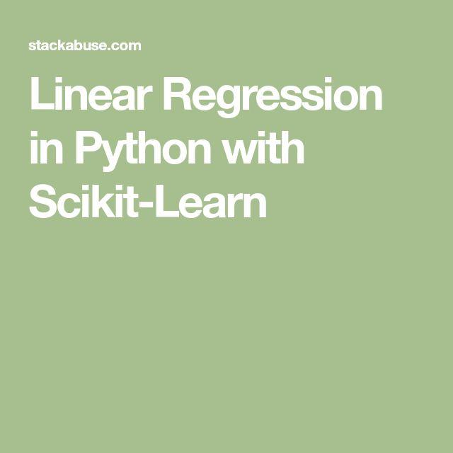 scikit-learn video #6: Linear regression (plus pandas ...