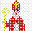 heel veel voorbeelden van strijkparels ontwerpen in het thema Sinterklaas
