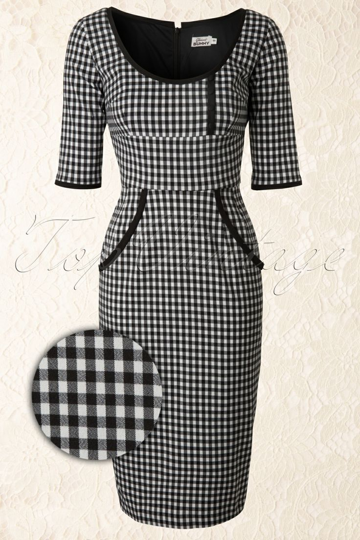 Glamour Bunny - TopVintage exclusive ~ Two Tone Dita von Teese dress in Black and White