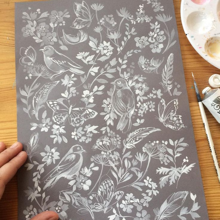 Good morning! Realised I haven't shared how this one turned out from my last vid, gouache on grey paper. Happy Saturday x . #claretherese #illustration #process_of_creativity #persuepretty #flashesofdelight #gouache #gouachepainting #painteveryday #dsfloral #artistsoninstagram #birdies #birdstagram #creativityfound #floral #sketchbook #doitfortheprocess #dspattern #makersgonnamake #surfacepattern #designprocess