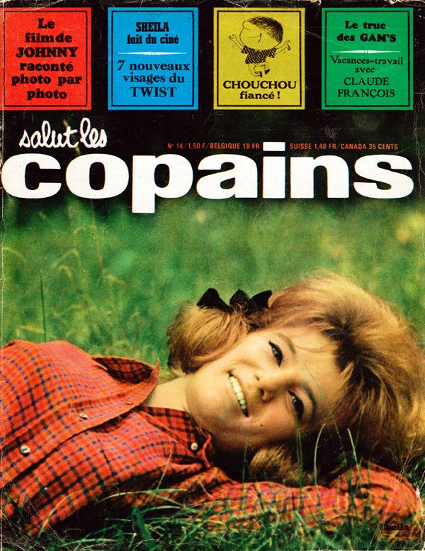 sheila on the cover of salut les copains september 1963 magazine hit parade pinterest. Black Bedroom Furniture Sets. Home Design Ideas