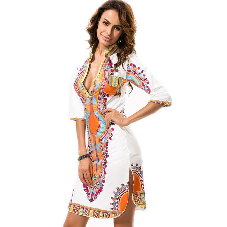 Goedkope Vintage Elegante Vestidos Vrouwen Jurk Bohemian Zomer Stijl 2016 Fashion Print Midi Jurken Harajuku Plus Size Dames Kleding, koop Kwaliteit jurken rechtstreeks van Leveranciers van China: