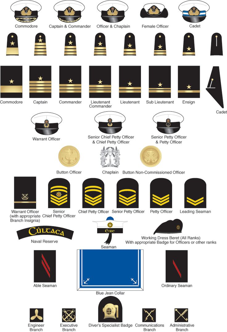 The military insignia includes a variety of different symbols and insignias used within the Navy on caps, badges and uniform lapels to identity there rank and affiliation.