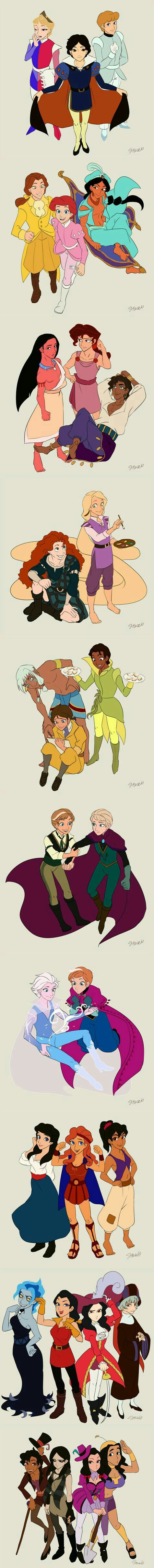 Hercules, Captain Hook, and Kronk are adorable