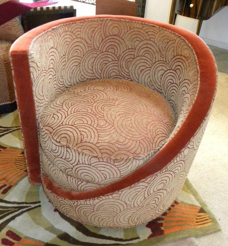 Art Deco kuipstoel - Vroege Art Deco stof patroon / Tub chair - Early Art Deco fabric pattern. art deco furniture images - Bing Images