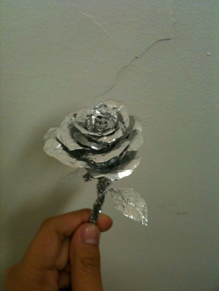 Aluminum foil rose, for embellishment on your TFDBs