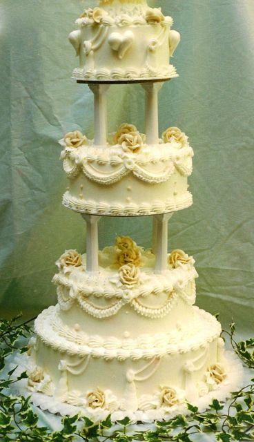 Traditional Buttercream Wedding Cake TBT
