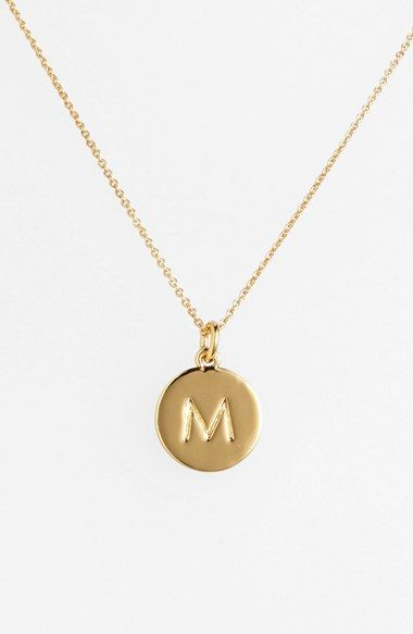 I'm usually not much of one for yellow gold, but I think this is cute.  kate spade new york 'one in a million' initial pendant necklace | Nordstrom