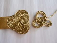 mcompany style: Martes DIY. Cómo hacer un cinturón joya