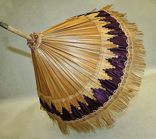 parasol 1840   Straw & Silk Parasol