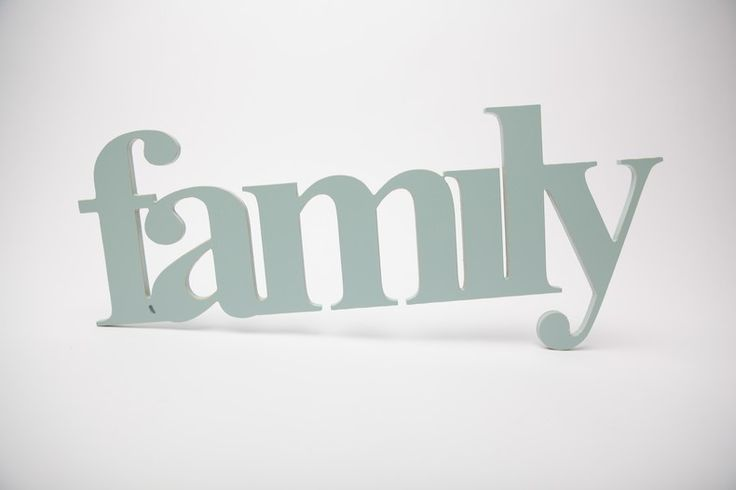 Wooden word - family  by Bokke & Blomme for sale on http://hellopretty.co.za