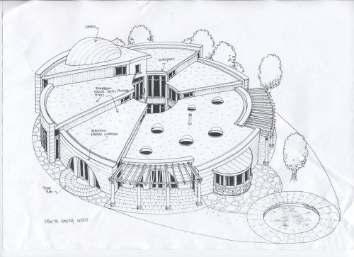 27 best organic floorplans images on pinterest cob Circle house plans