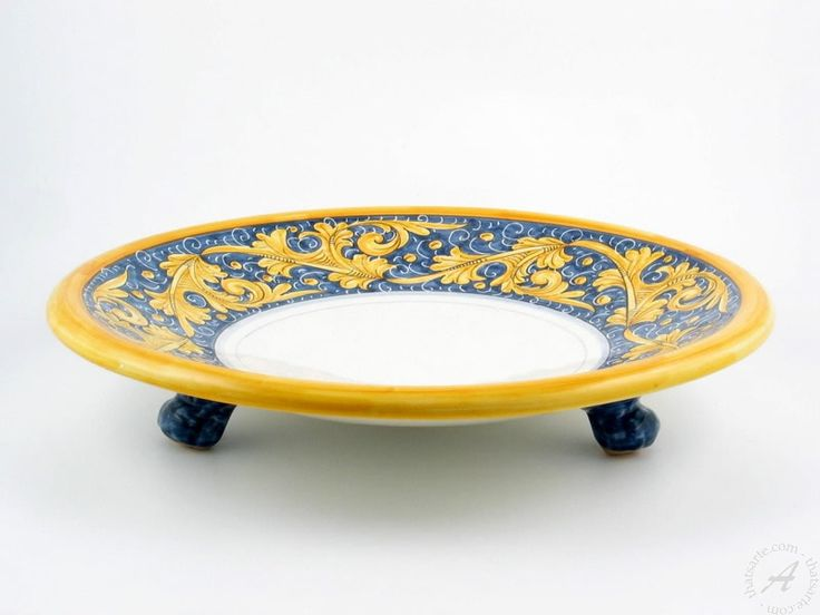 Handmade platter, fruit bowl by Rampini Gubbio