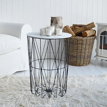 geometric side table coffee or side table for living room furniture the white lighthouse