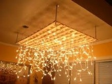 $99.99 35M 600 LED Christmas Icicle Lights - Warm White - Christmas In Lights - under the table cloth