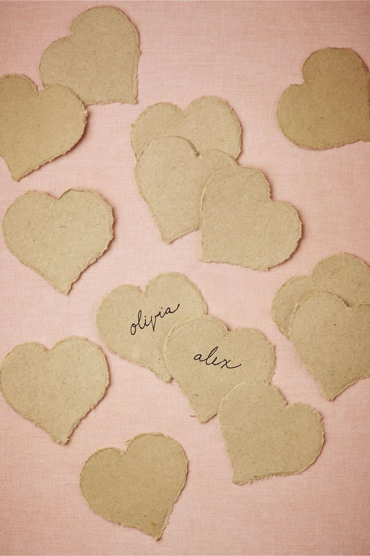 Don't need placecard holders with these.  Hearted Place Cards (50) from BHLDN for $12.00