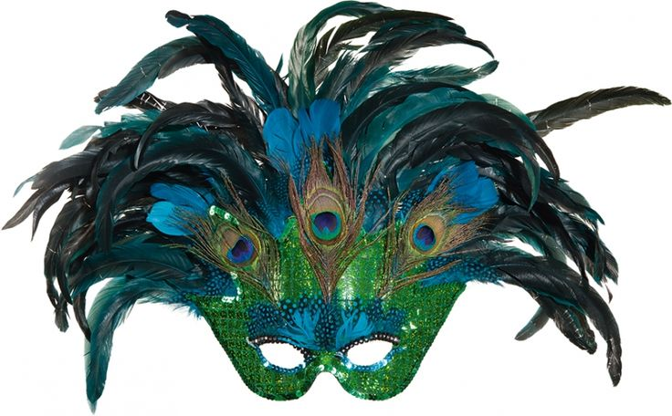 Paradiesvogel Pfau Maske Vogelmaske Pfauenfeder Pfauenauge