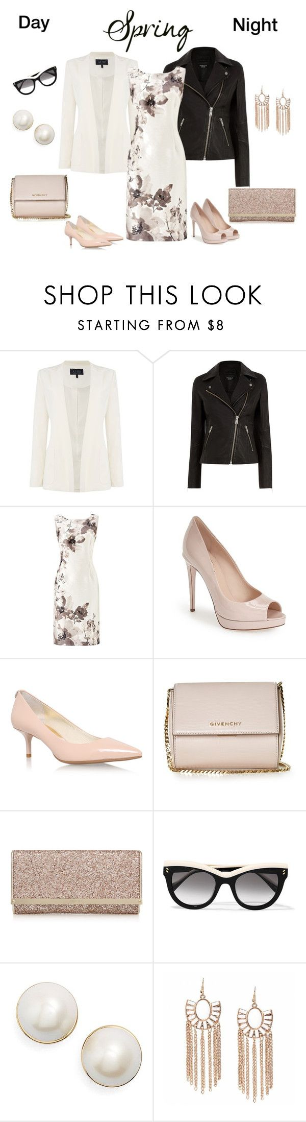 """""""Spring Day to Night"""" by southindianmakeup1990 ❤ liked on Polyvore featuring Armani Jeans, Warehouse, Jacques Vert, Fendi, MICHAEL Michael Kors, Givenchy, STELLA McCARTNEY and Kate Spade"""