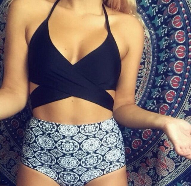 Cute high waisted bikini