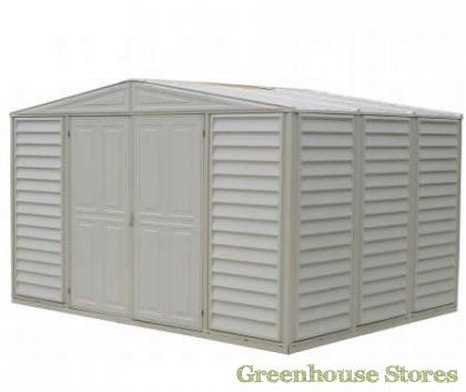 Duramax 10x12 Woodbridge Plastic Shed  http://www.greenhousestores.co.uk/Duramax-10x12-Woodbridge-Plastic-Shed.htm