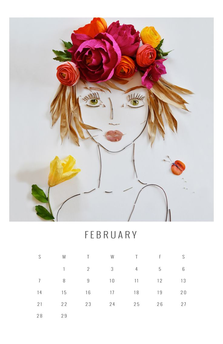2016 flower face calendar...the perfect Christmas gift...a no brainer!