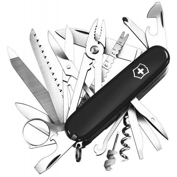 Victorinox SwissChamp Swiss Army Knife (Black) - Victorinox from SwissArmy365 UK