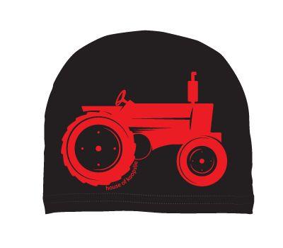 boys: tractor on black