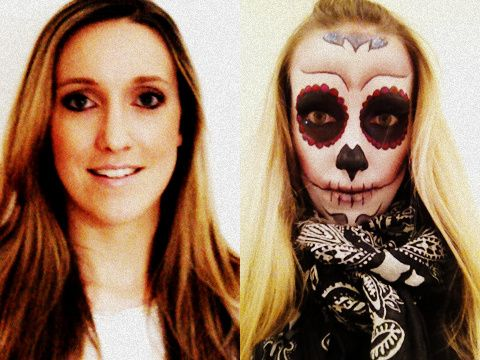 Mexikanische Totenmaske schminken, die Step-by-Step Anleitung haben wir auf jolie.de für euch #Halloween #diadelosmuertos #totenmaske