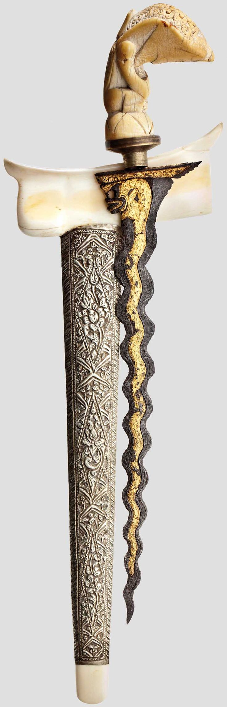 Malay Archipelago  Gold Studded Kris, Sumatra before 1900