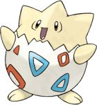 Togepi 175: Only available through the Mystery Egg. Togepi levels up quickly. When it's happy, it evolves into Togetic. Catch a Ditto to breed with it (7 out of 8 chance it's a male). Moveset (as Togetic): A. Swift, Return. Fly, Flash. B. Return, Fly, Headbutt, Metronome (just for kicks).
