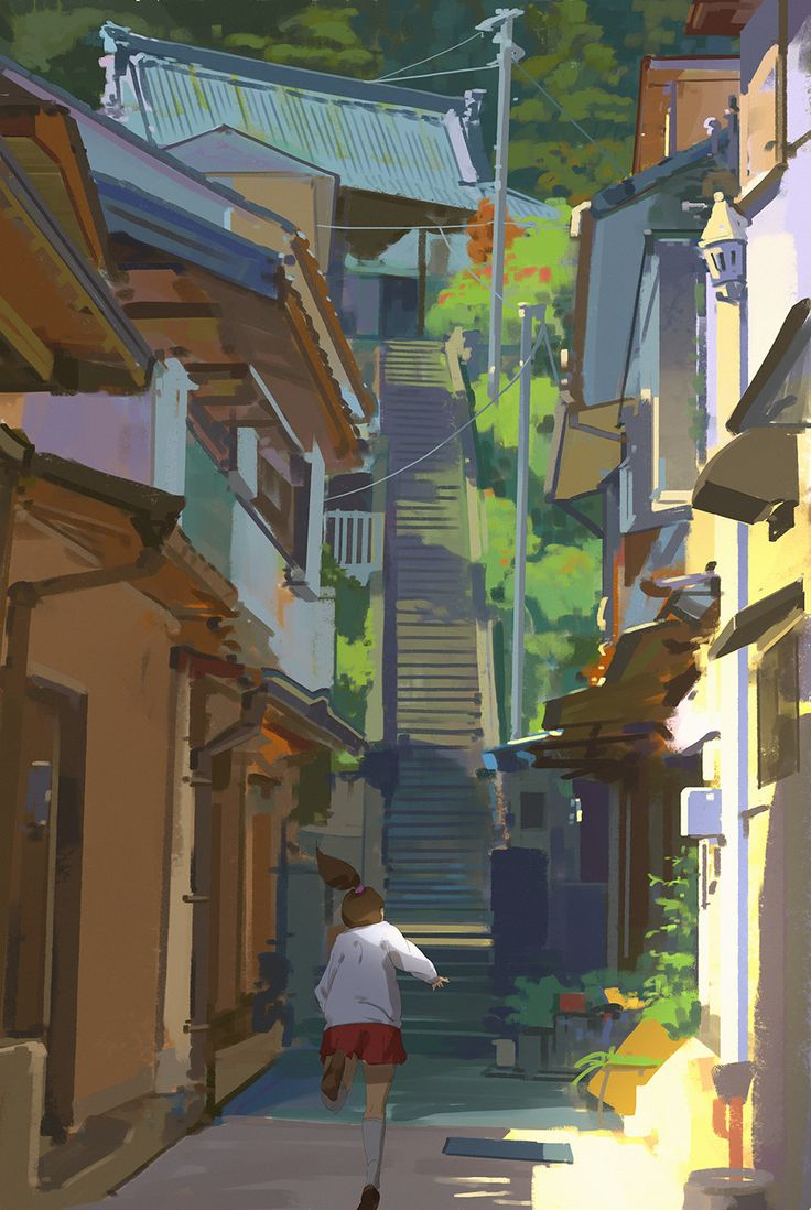 157/365 Up the stairs, Atey Ghailan on ArtStation at…
