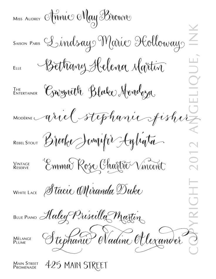 Hand Calligraphy Envelope Addressing - Style: Mélange Plume. $3.00, via Etsy.