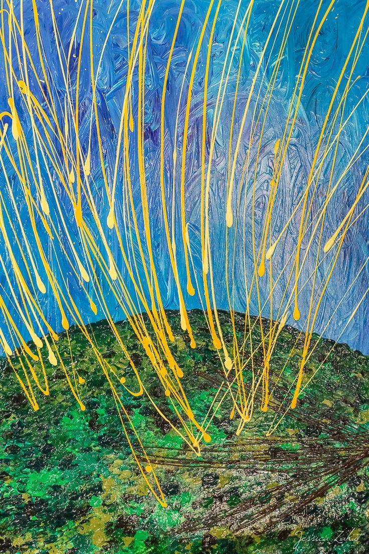 Acrilico su legno (70x100 cm ) fingerpainting artist Jessica Zahut  Florence, Italy