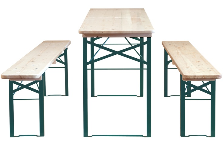 Biergarten folding wood table and bench set with free shipping beer garden furniture for World market beer garden table