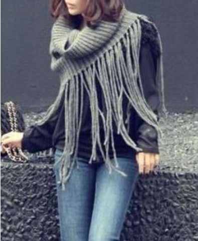 Pure Color Long Tassel Knitted Scarves - Accessories - Bags & Accessories