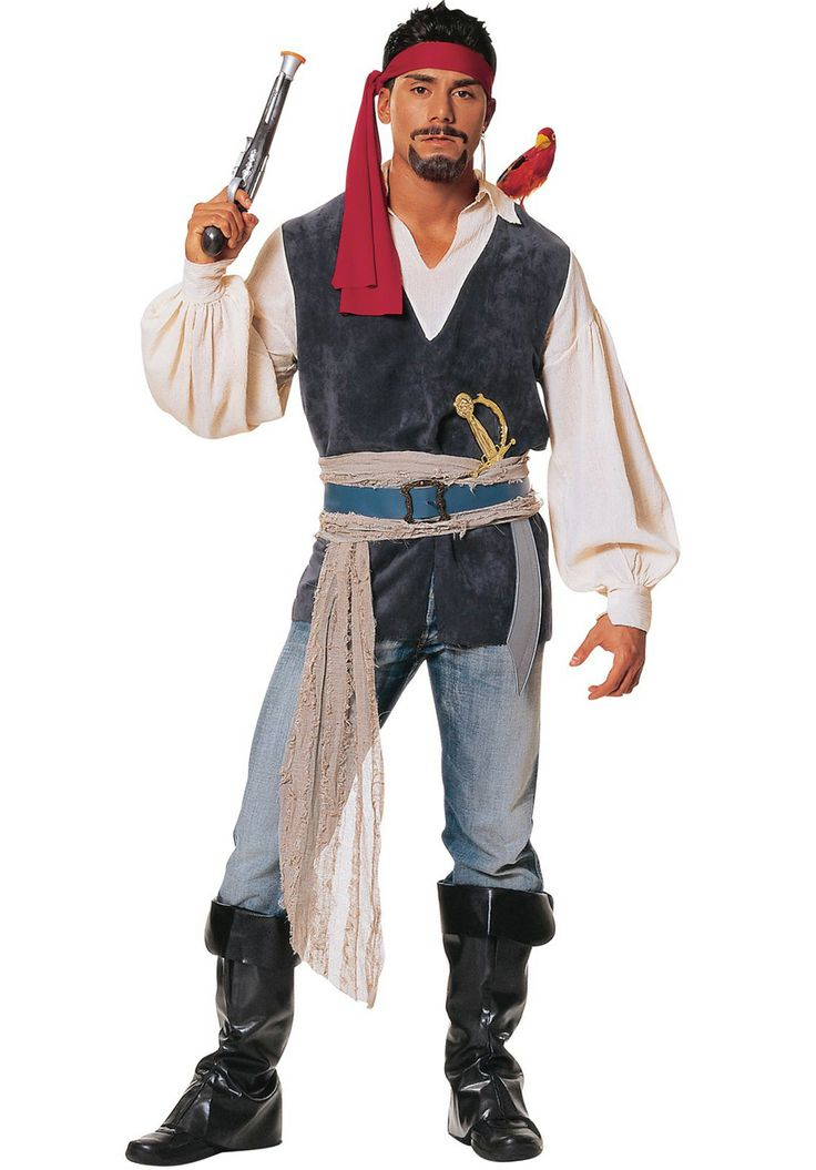 Adult Pirate Sea Costume, Blue