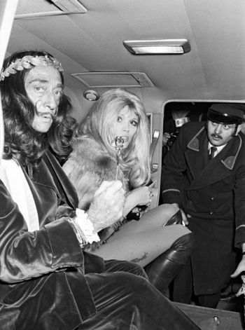 Salvador Dali and Amanda Lear, 1970s