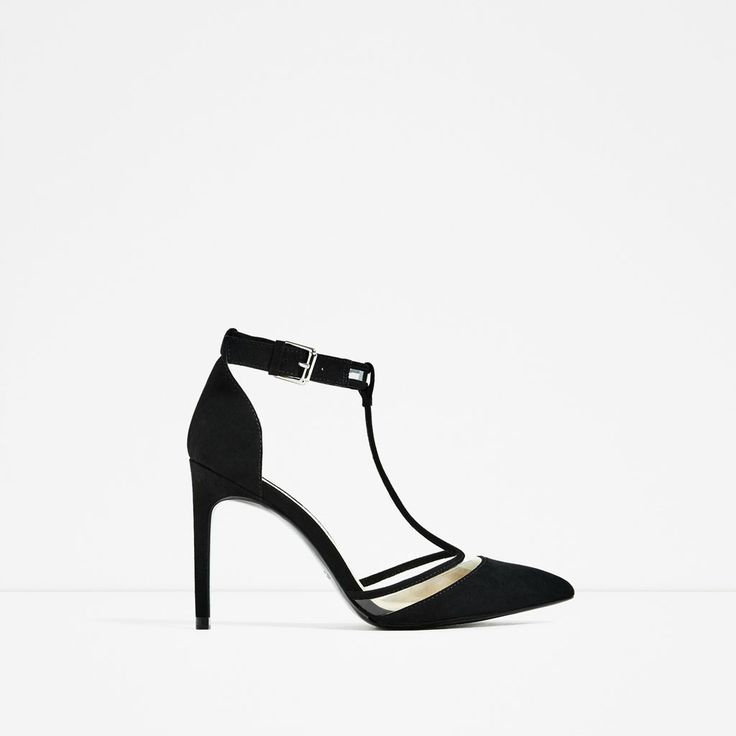ZARA - COLLECTION SS/17 - VINYL BLACK COURT SHOE
