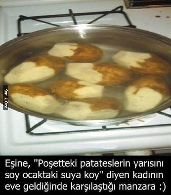 poşetteki patatesler