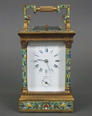 Tiffany Carriage clock : Lot 69