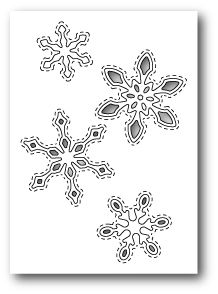 Poppystamps Craft Die - Stitched Snowflake Cutouts