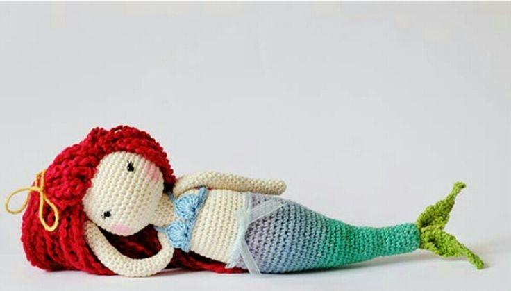 Amigurumi Örgü Oyuncak Modelleri – Amigurumi Büyük Boy Deniz Kızı Modeli Yapılışı ( Anlatımlı ) – Örgü, Örgü Modelleri, Örgü Örnekleri, Derya Baykal Örgüleri