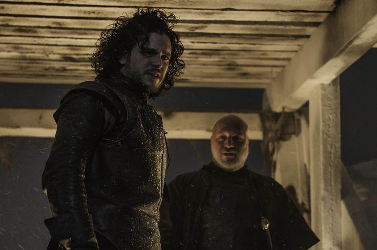 Jon Snow & Janos Slynt [Game of Thrones Season 4 Episode 9 HQ Stills]