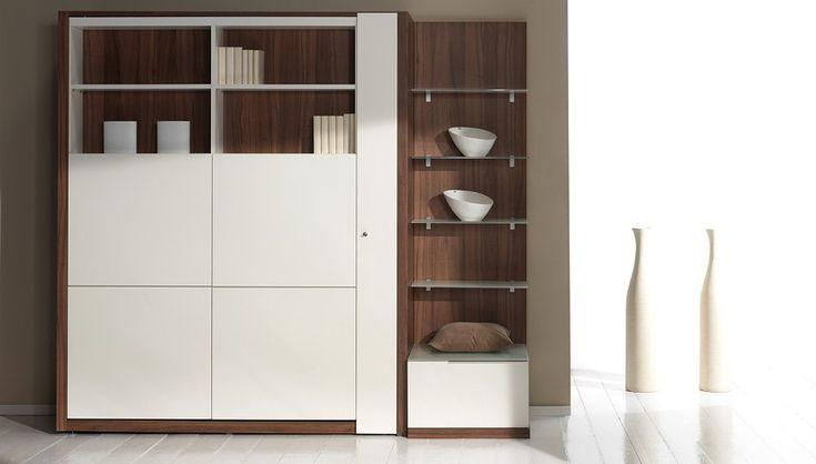 25 best ideas about armoire lit escamotable on pinterest - Lit bureau armoire combine ...