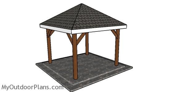 10 10 Gazebo Hip Roof Plans In 2020 Diy Gazebo 10x10 Gazebo Diy Shed