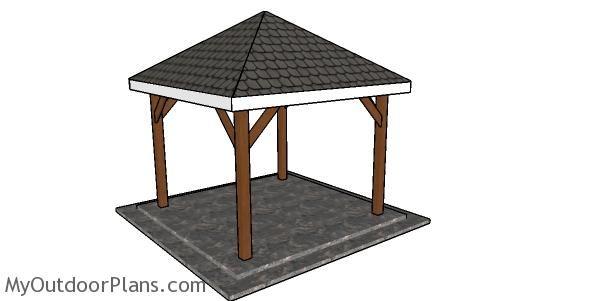 10 10 Gazebo Hip Roof Plans In 2020 Diy Gazebo 10x10 Gazebo Diy Shed