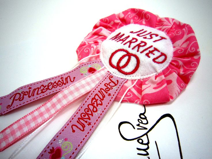 JUST MARRIED wedding Anstecker Hochzeit Button  von Anne Svea auf DaWanda.com