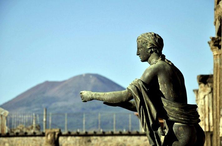 Pompeii Ruins and Mt. Vesuvius