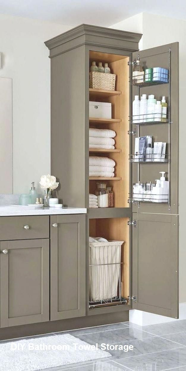 DIY Bathroom Towel Storage Ideas #bathroomdiy   Bathroom ...